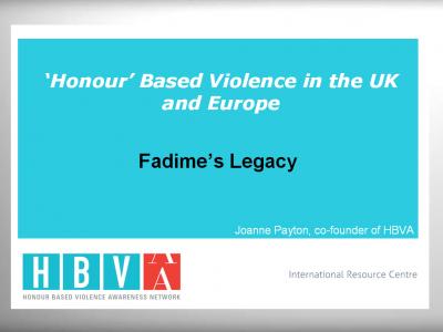 Presentation: Fadime's Legacy