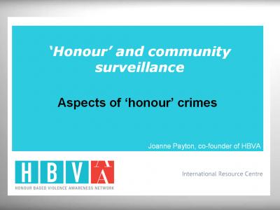 'Honour' and Community Surveillance